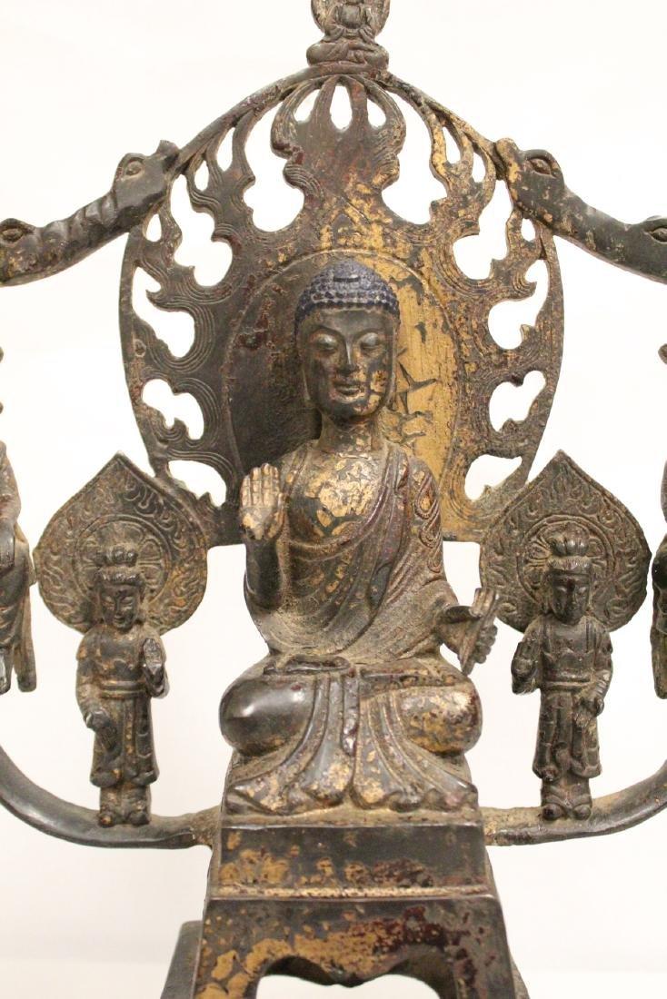 Chinese bronze sculpture of Buddha - 5