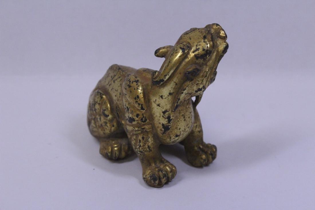 Chinese gilt bronze qilin - 6