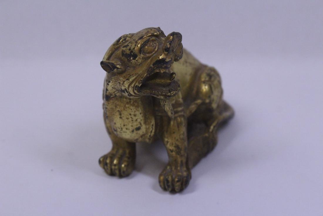 Chinese gilt bronze qilin - 7