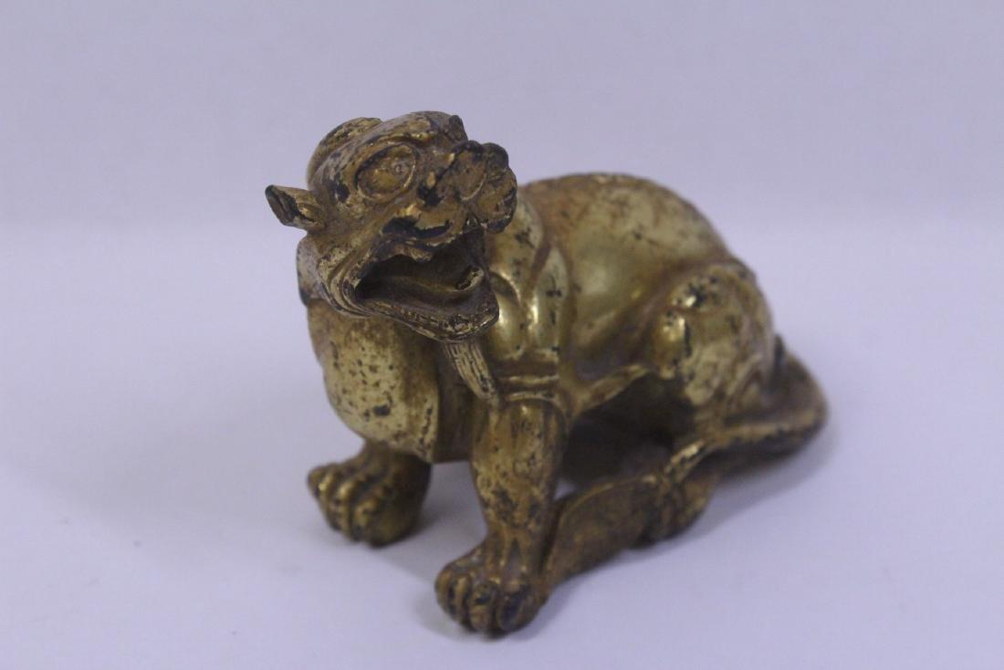 Chinese gilt bronze qilin - 8