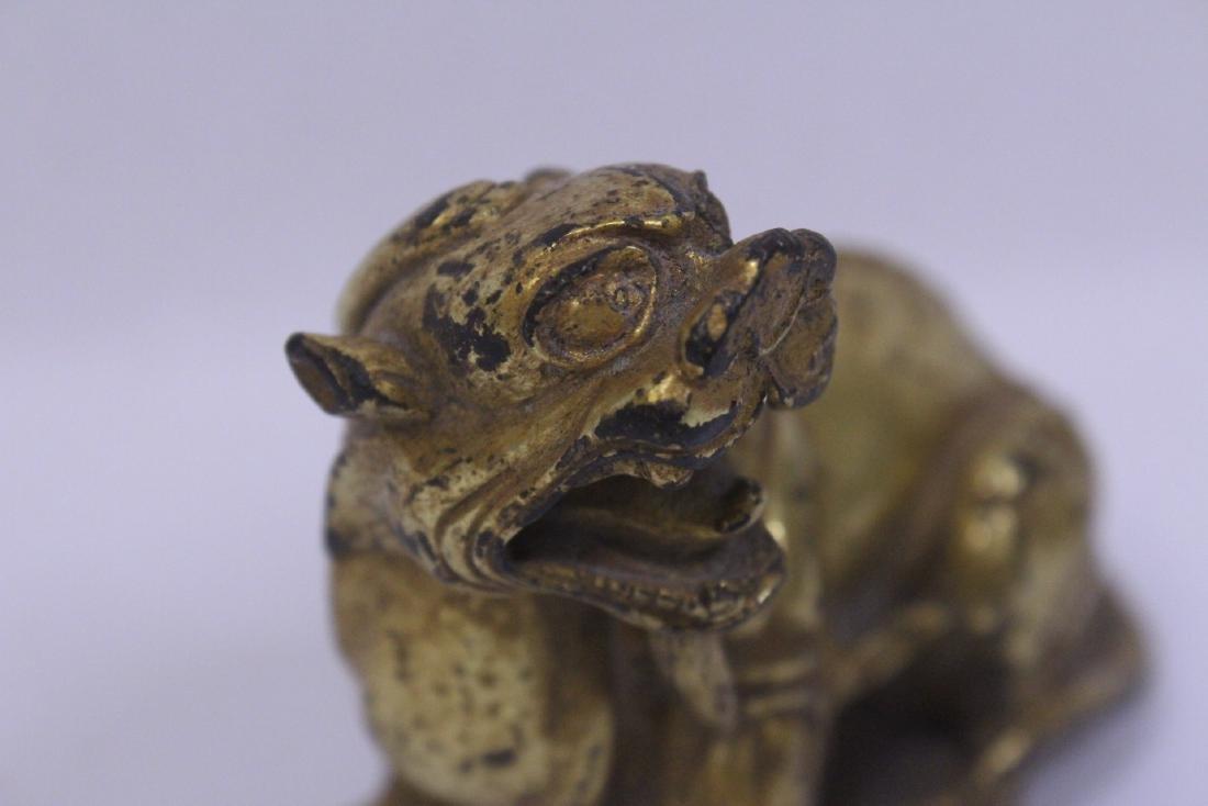 Chinese gilt bronze qilin - 9