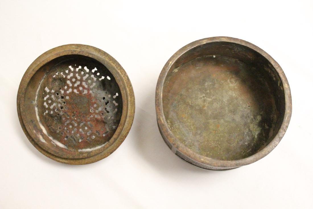 Chinese bronze censer - 7