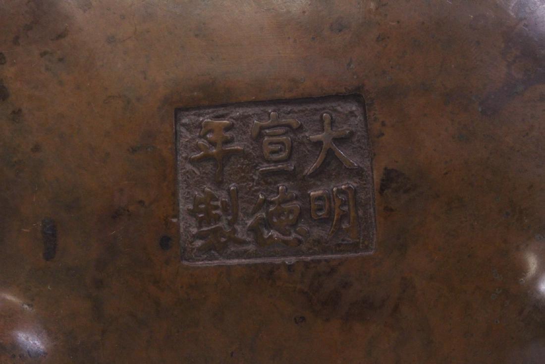 Chinese bronze censer - 10