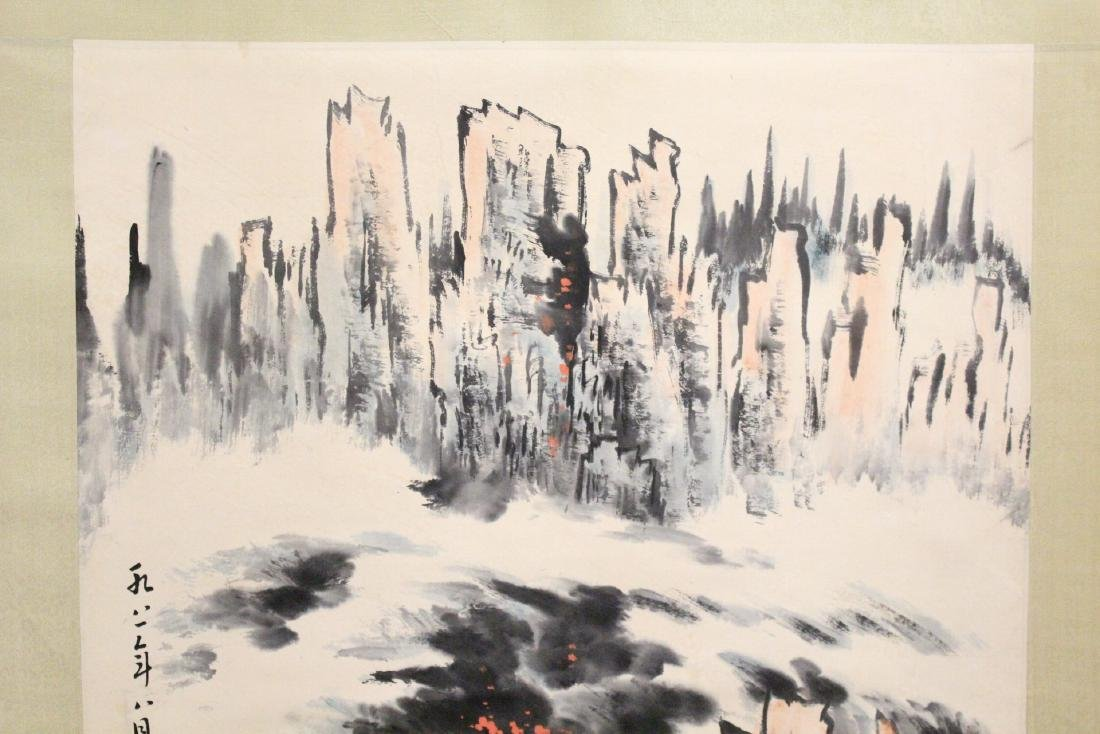"Chinese watercolor scroll ""landscape"" - 3"