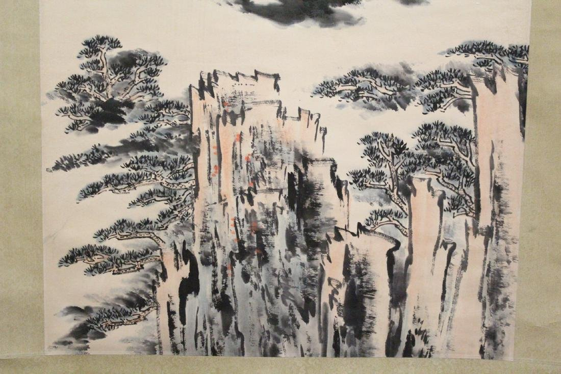 "Chinese watercolor scroll ""landscape"" - 5"