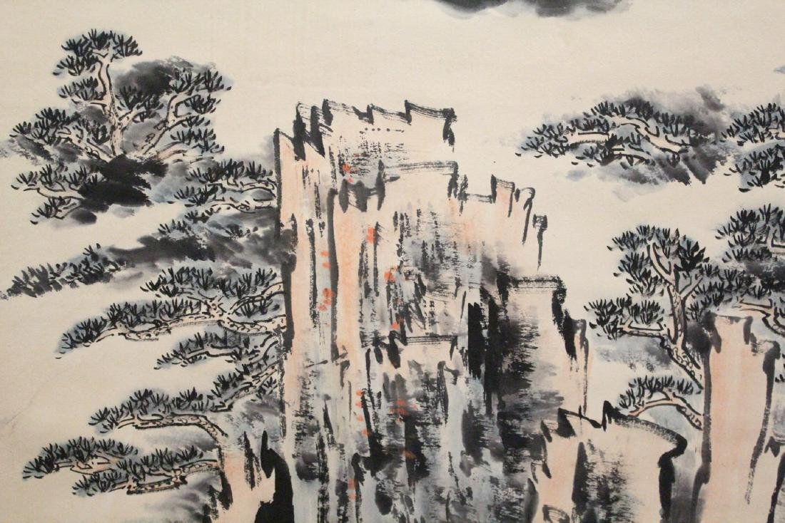 "Chinese watercolor scroll ""landscape"" - 9"