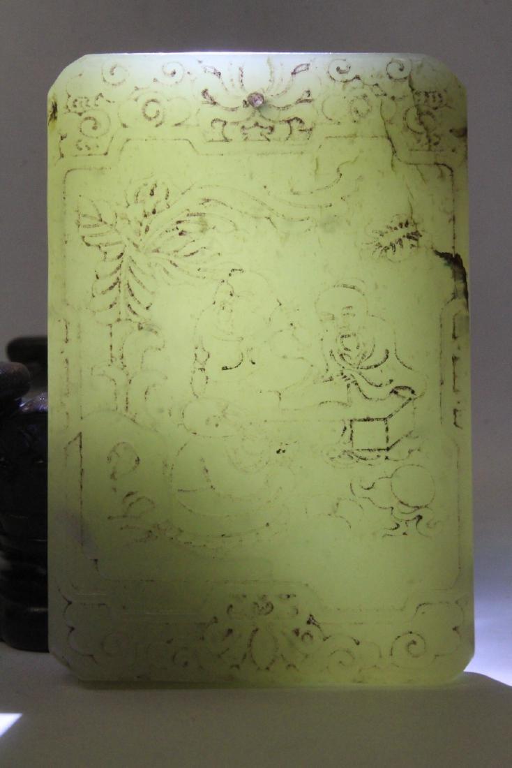 Celadon jade like plaque - 10