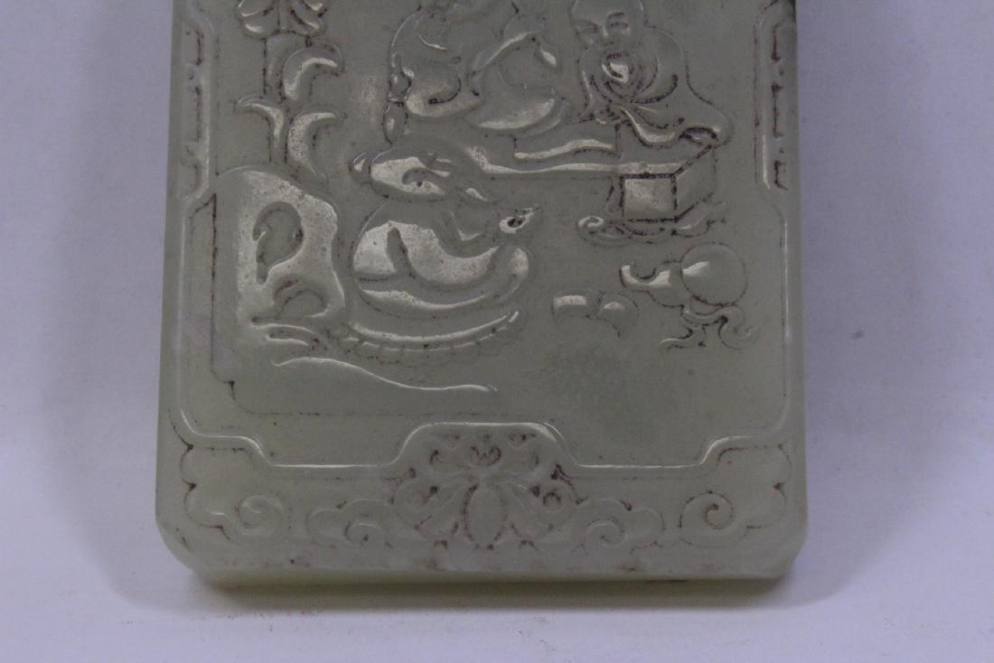 Celadon jade like plaque - 3