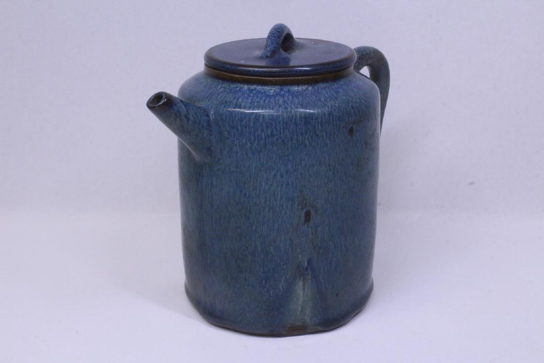 Blue glazed Yixing teapot - 5