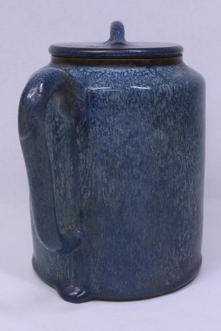 Blue glazed Yixing teapot - 8