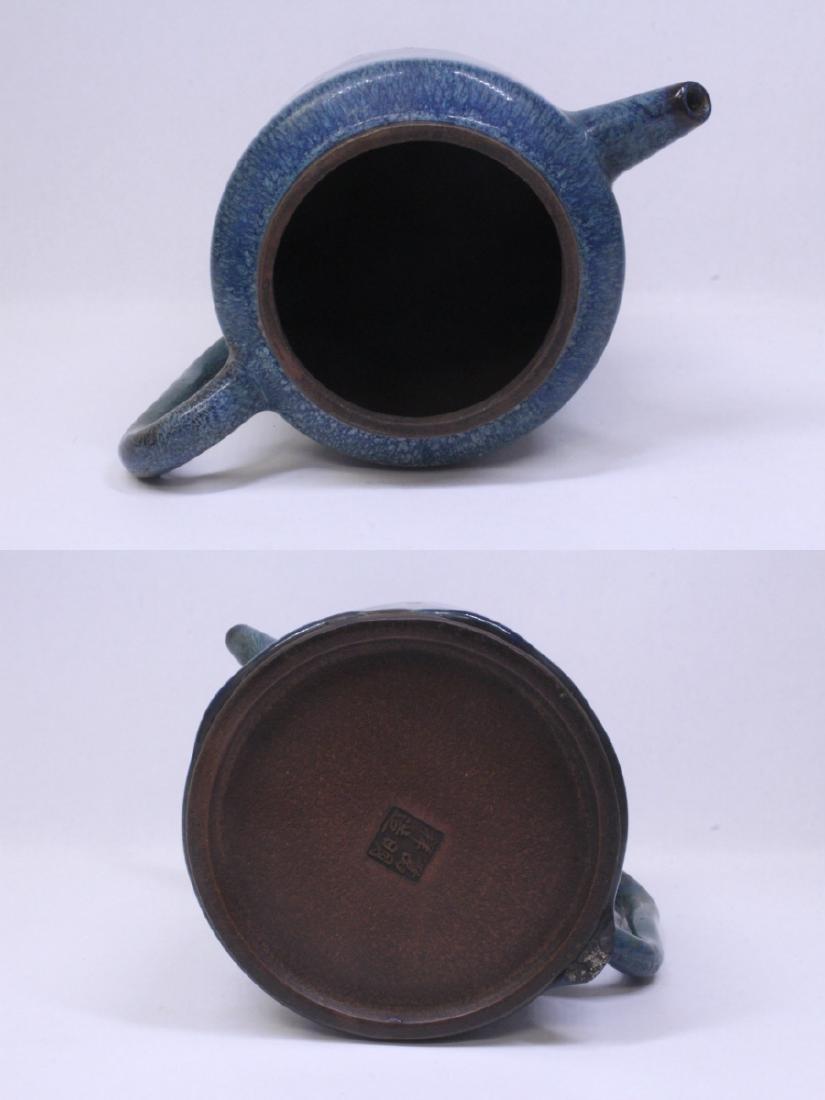 Blue glazed Yixing teapot - 9
