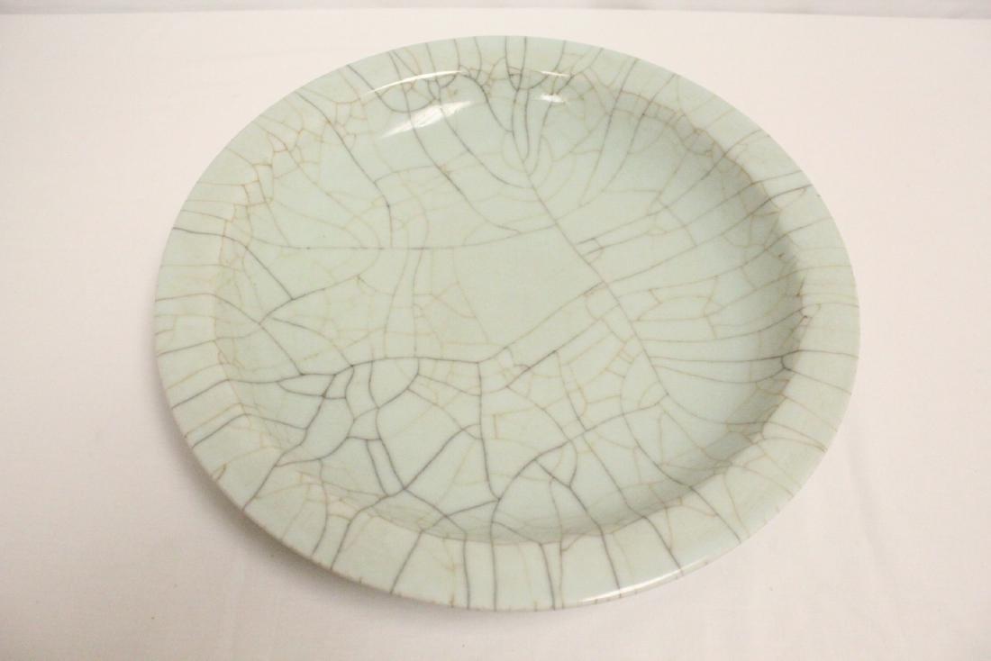 A massive crackle porcelain charger - 2
