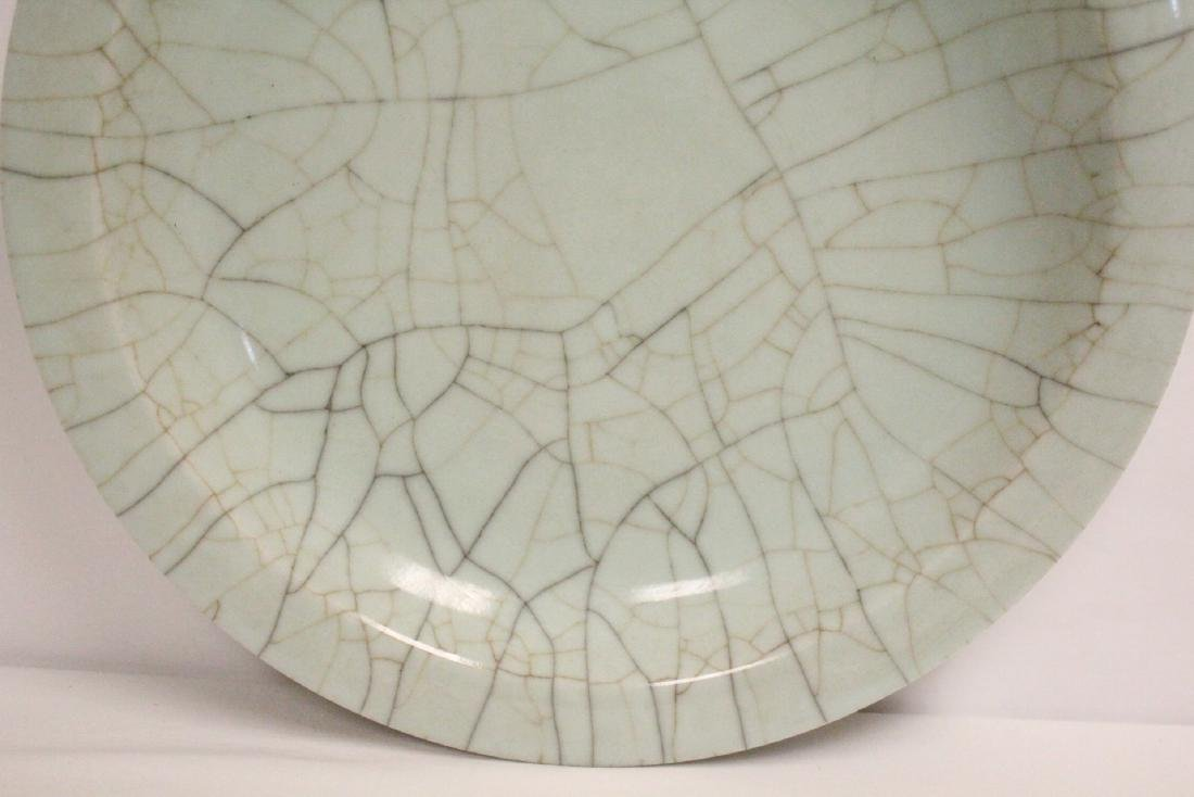 A massive crackle porcelain charger - 6
