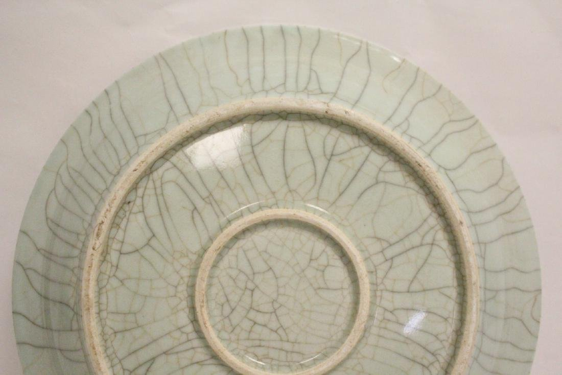 A massive crackle porcelain charger - 9