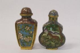2 Chinese cloisonne snuff bottles