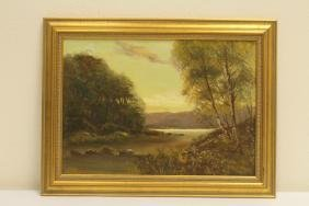 Antique oil on canvas, signed