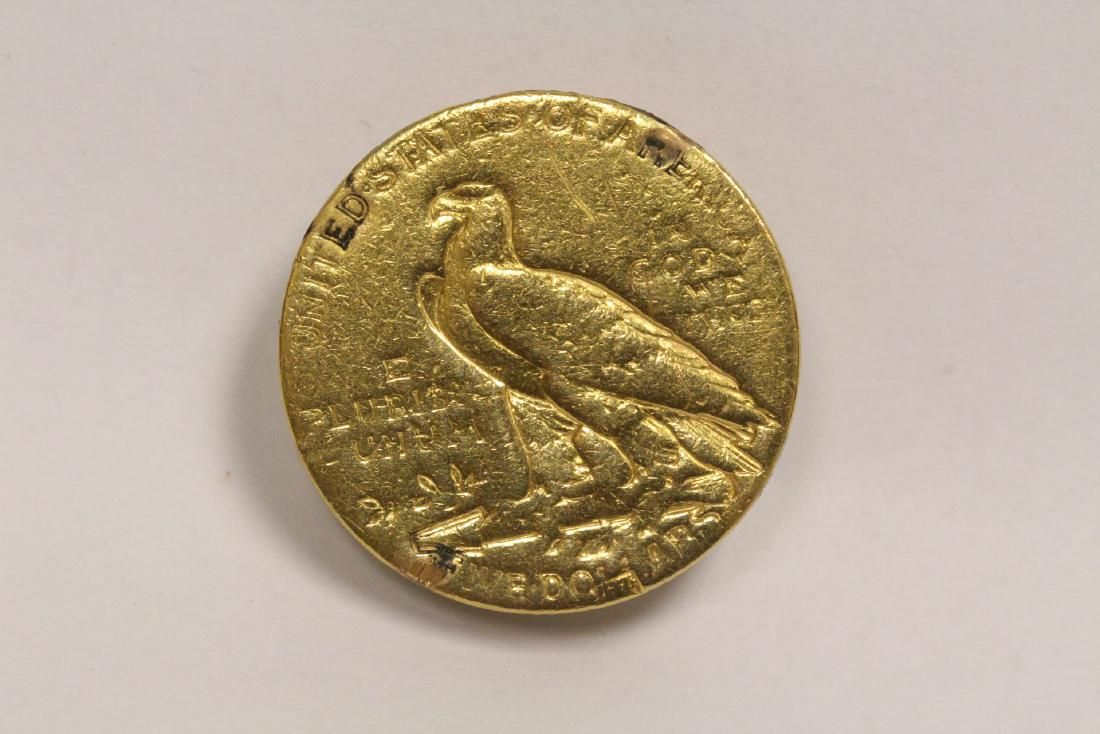 US Indian head gold coin, dated 1911