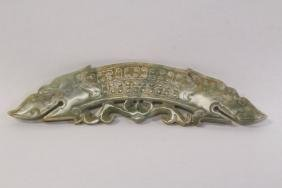Chinese celadon jade carved ornament