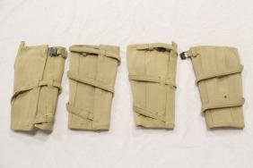 4 US pre-WWI cavalry office canvas puttees legging