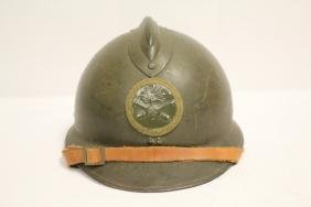 French WWII artillery helmet