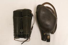 French WWI binocular w/ case & pistol holster