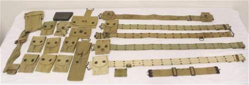 Lot of misc. US WWI belt and cartridge purses