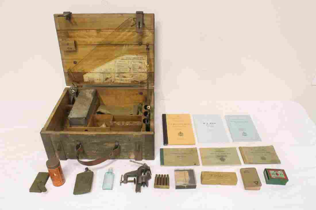 US Army WWI weapon repair chest