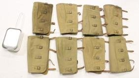 4 pairs US WWII puttees (1943), and a mess kit