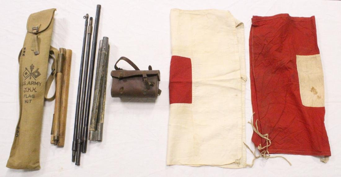 US WWI Army signal corps kit, and misc.