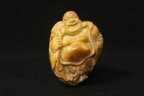 Chinese vintage shoushan stone carved Lohan