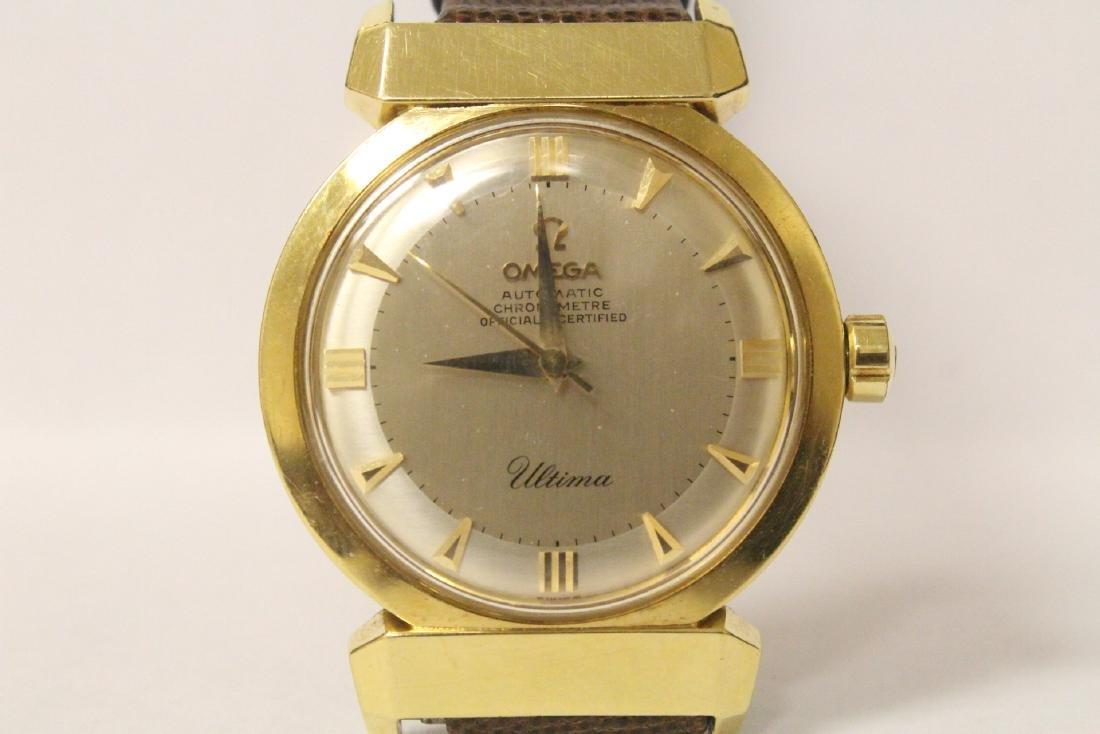 1950's man's 18K Omega Ultima wrist watch