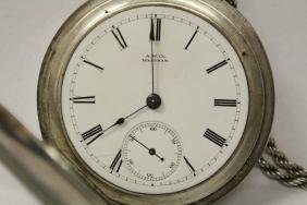 C1870's Waltham Silver Key-wind Pocket Watch W/ Fab