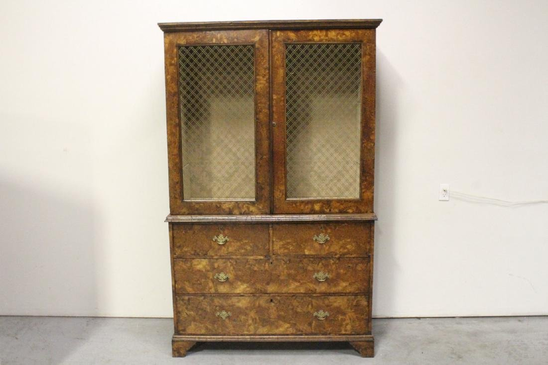 A fine 18th century Georgian 2-section cabinet