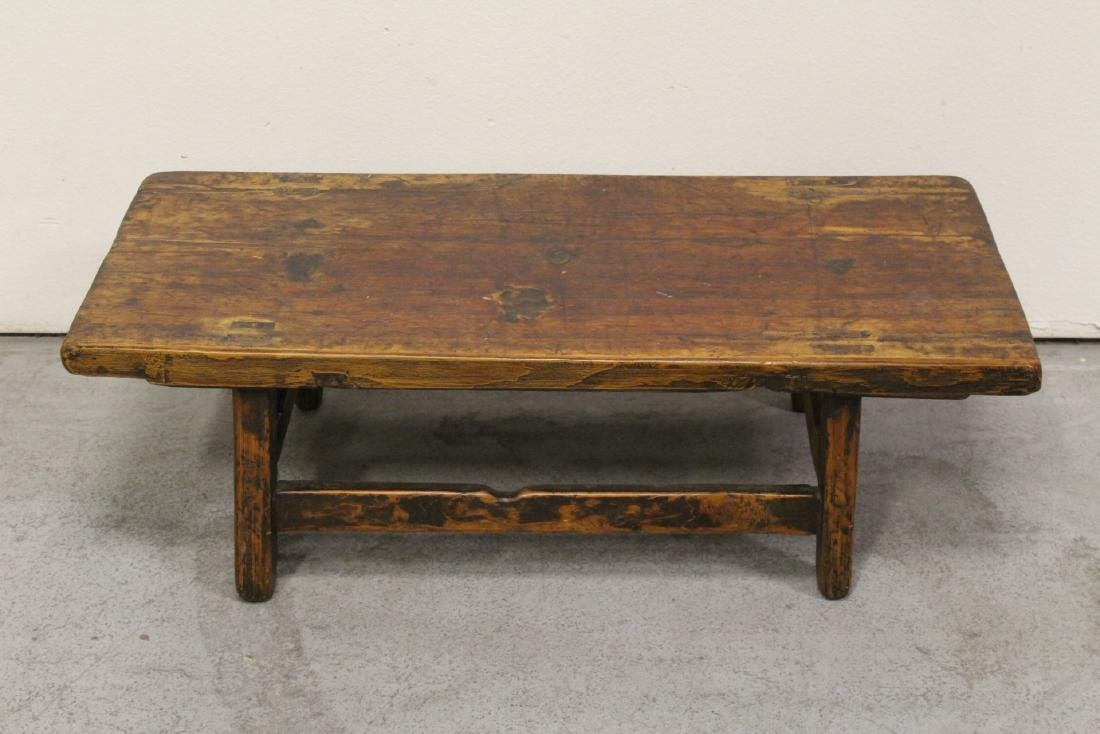 18th/19th century Chinese wood low table