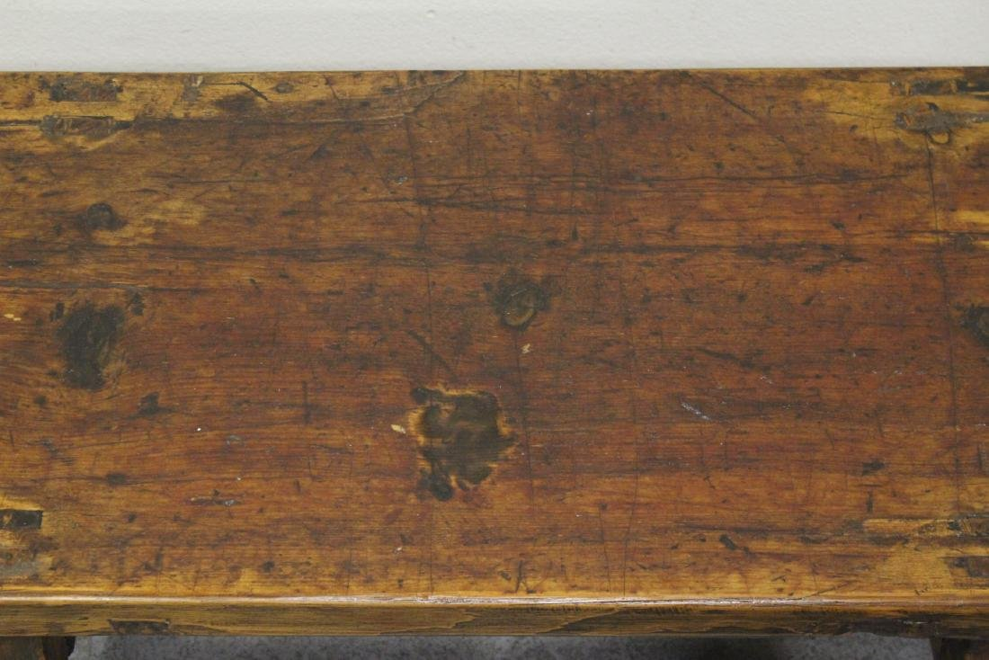 18th/19th century Chinese wood low table - 3