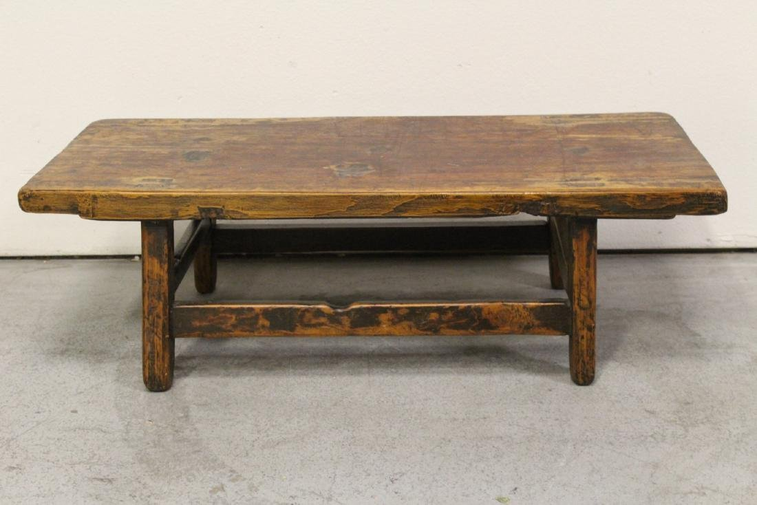 18th/19th century Chinese wood low table - 4