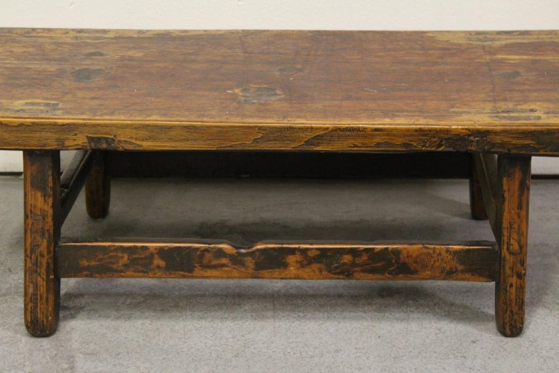 18th/19th century Chinese wood low table - 5