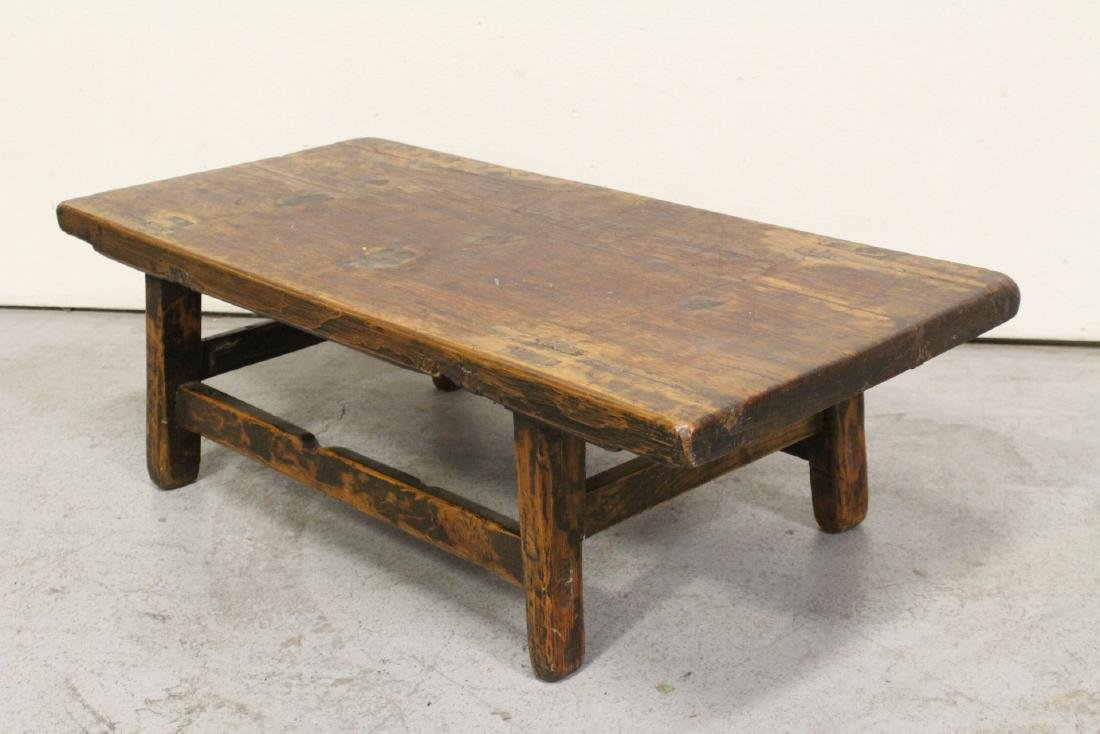 18th/19th century Chinese wood low table - 6