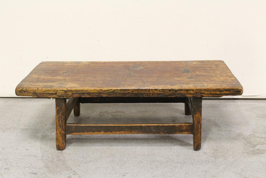 18th/19th century Chinese wood low table - 8