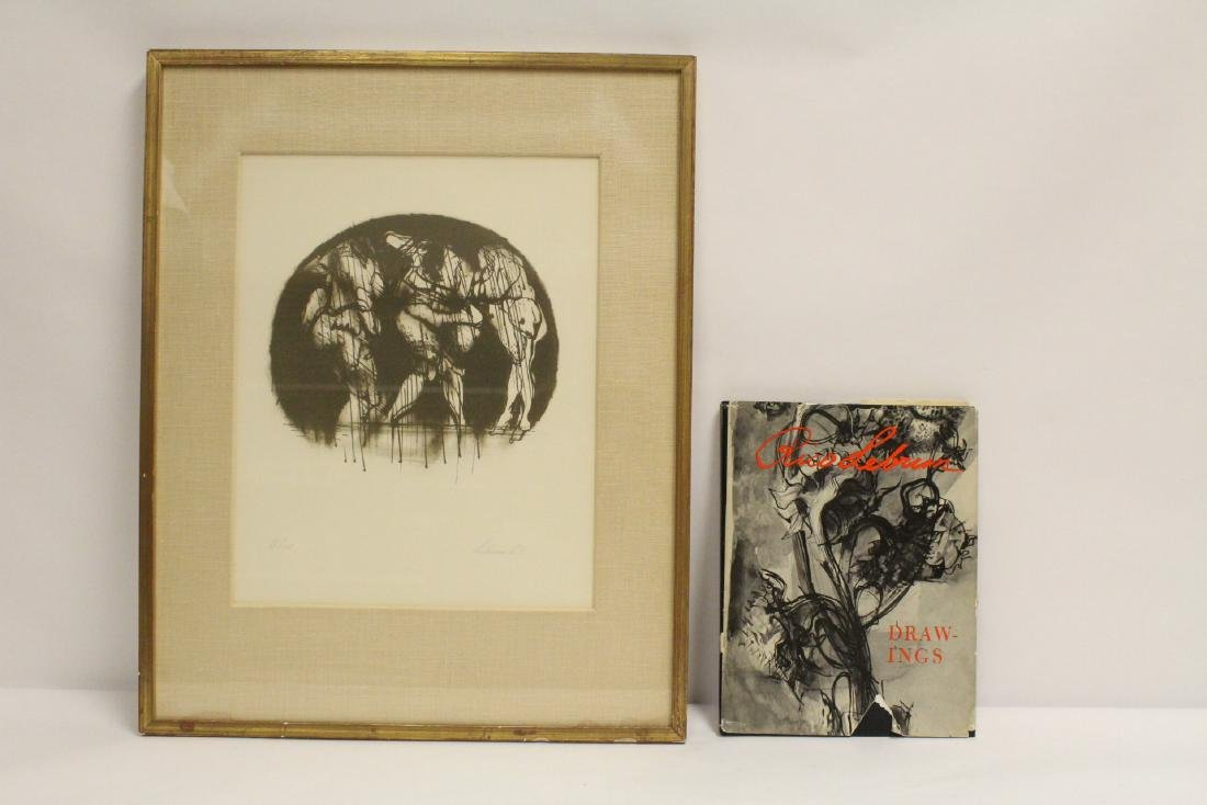pencil signed litho by Rico Lebrun & book of his