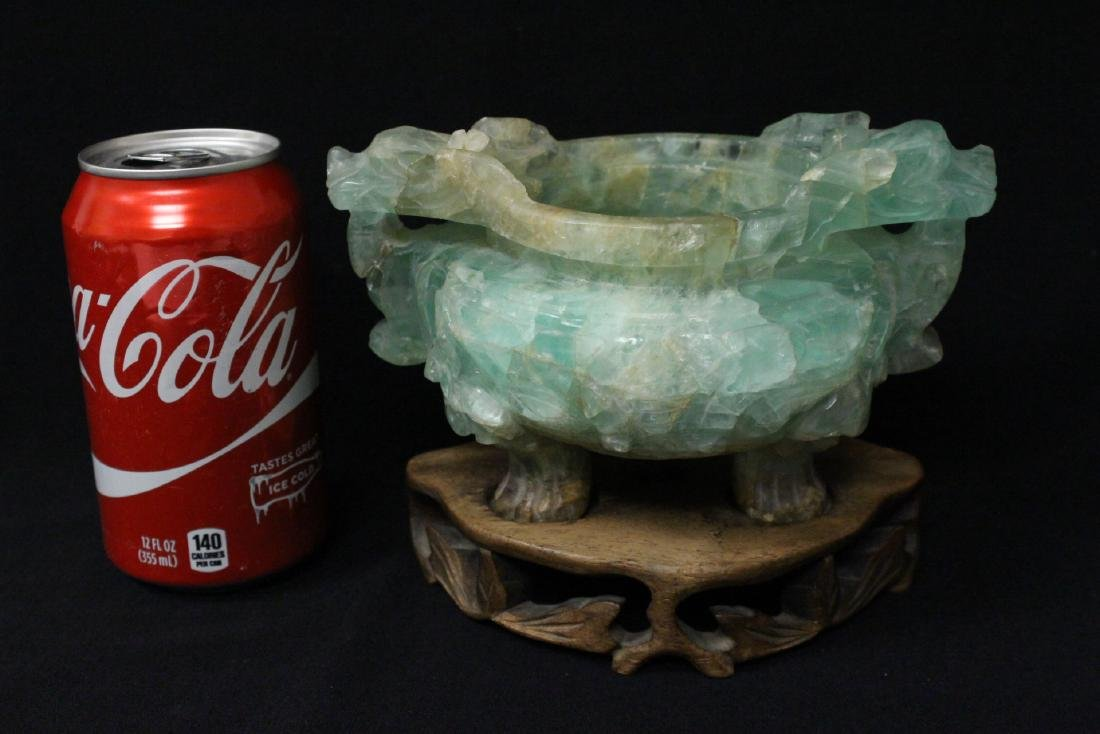 Chinese 19th century fluoride carved censer