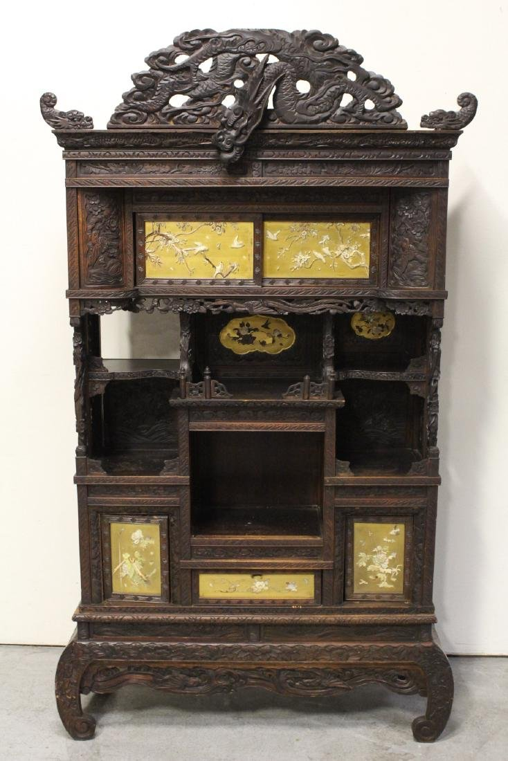 An important Japanese 19th century curio cabinet