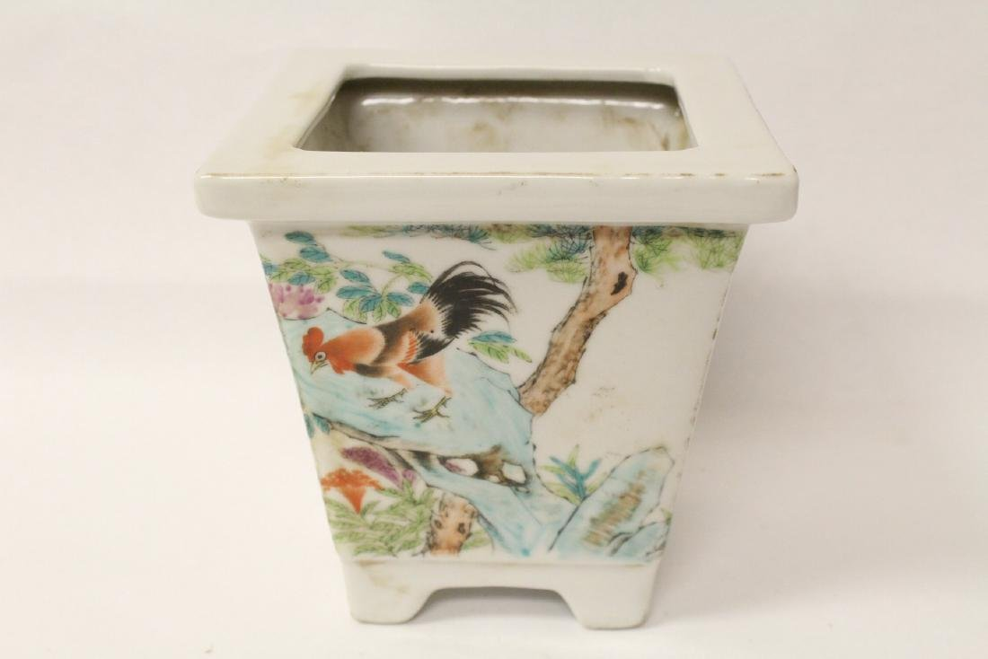 A fine Chinese famille rose porcelain planter
