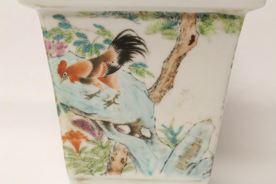 A fine Chinese famille rose porcelain planter - 2