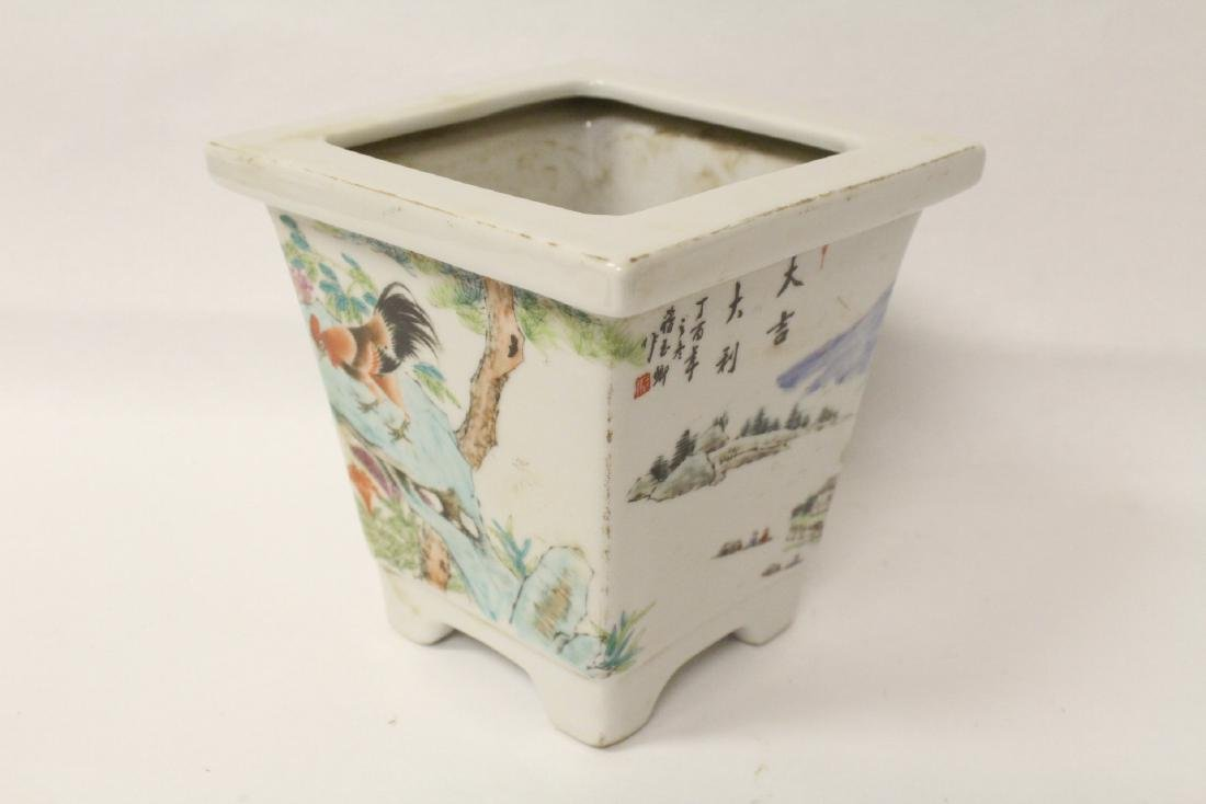 A fine Chinese famille rose porcelain planter - 3