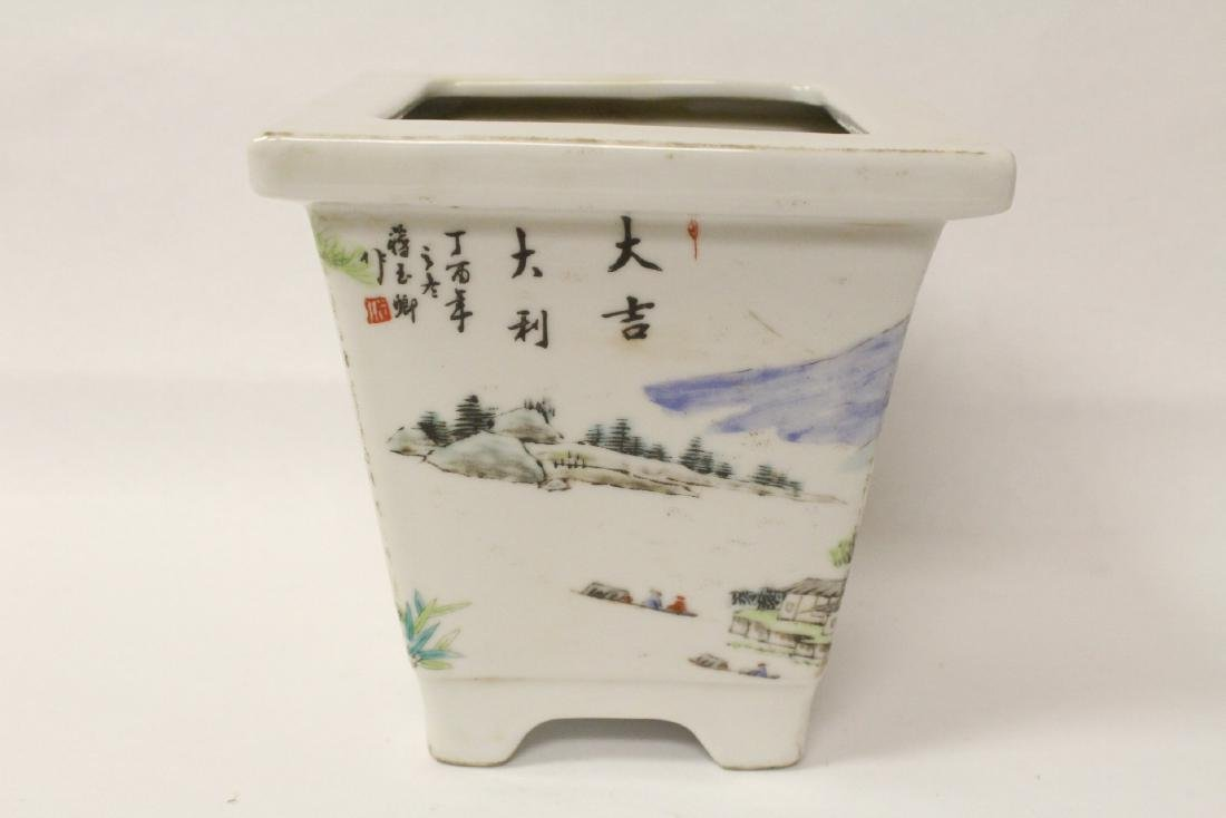 A fine Chinese famille rose porcelain planter - 4