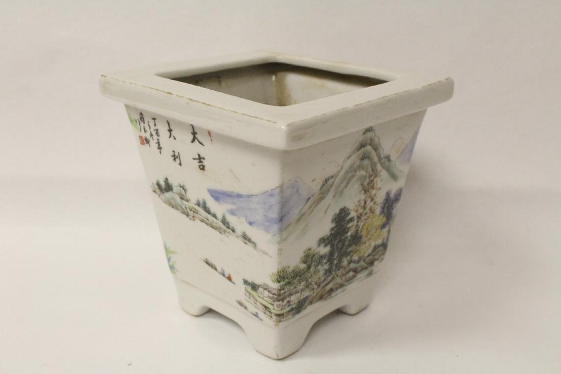 A fine Chinese famille rose porcelain planter - 5