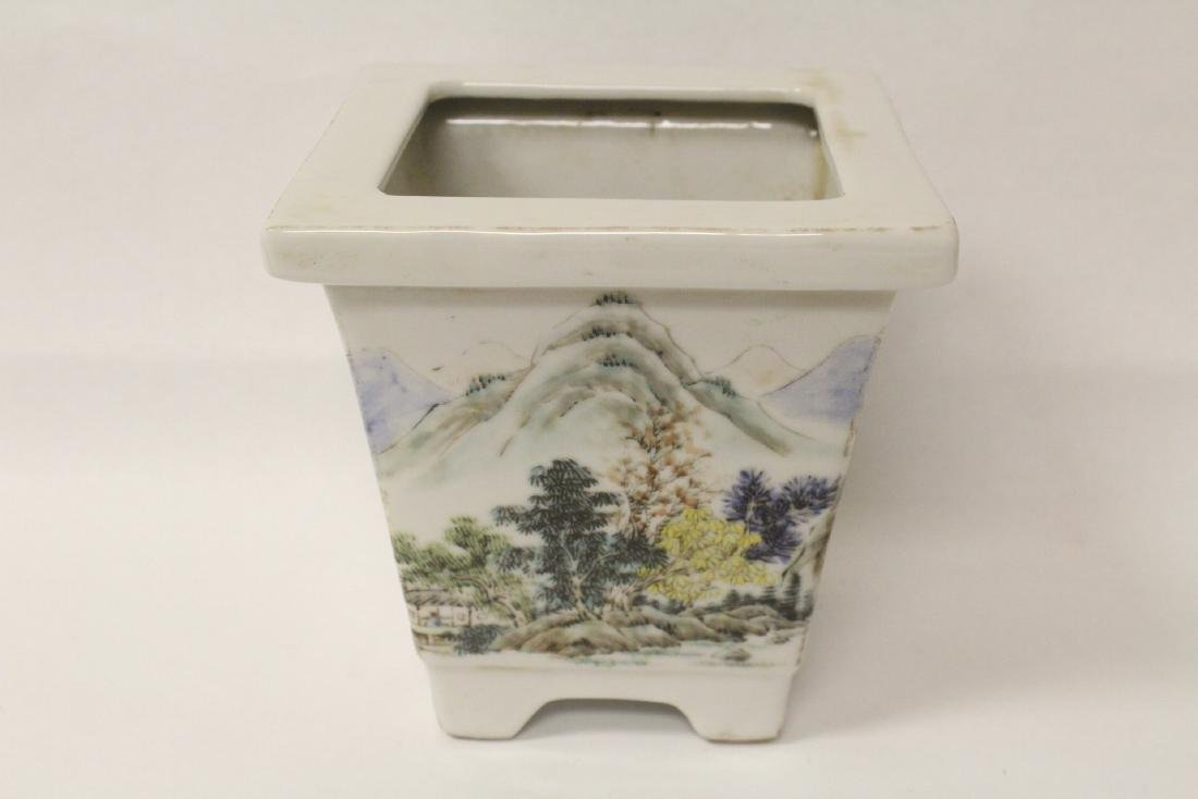 A fine Chinese famille rose porcelain planter - 6