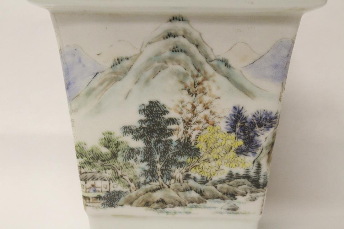 A fine Chinese famille rose porcelain planter - 7