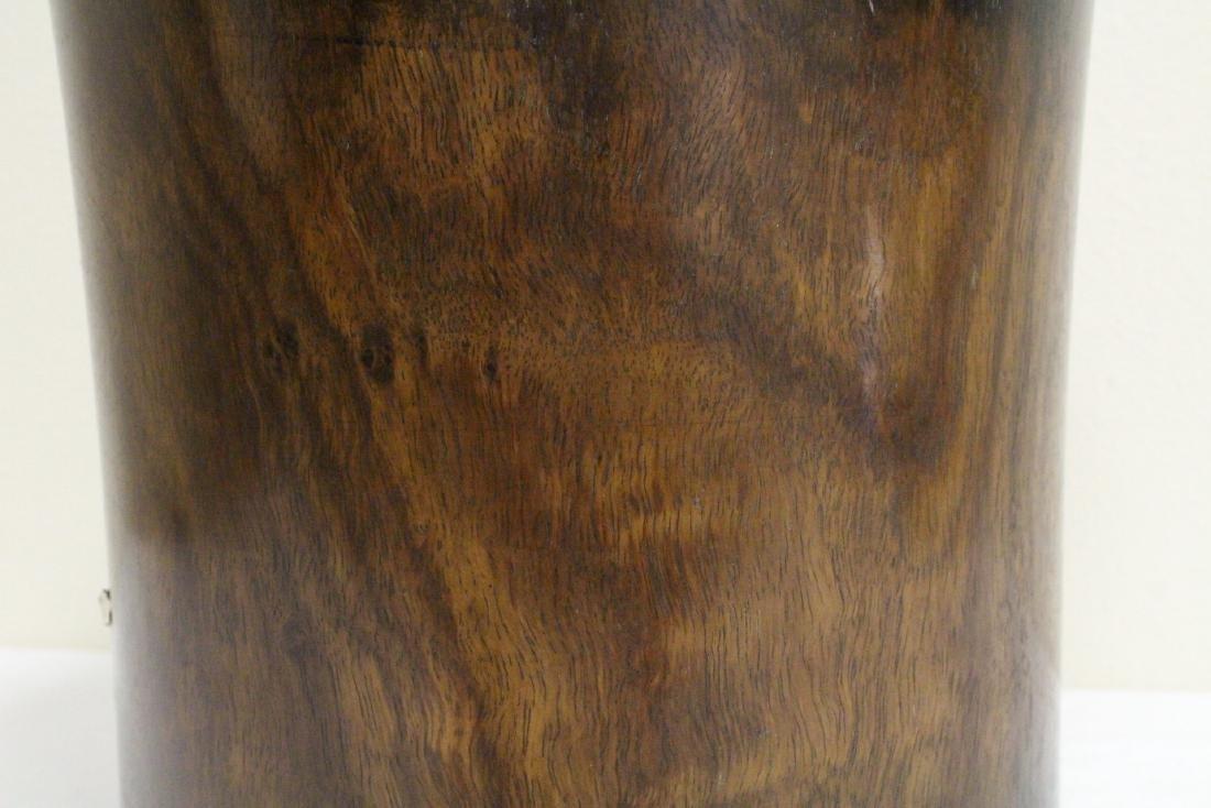 Large Chinese rosewood brush holder - 10